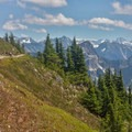 The winding trail approaching the summit of Winchester.- A Guide to Adventuring on Mount Baker