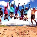 Best bachelorette party crew ever celebrating chicks! Blackhawk Pass on the Colorado Trail.- Woman In The Wild: Amy Schweim
