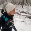 Snowy trail run on Emerald View Trail.- Woman In The Wild: Ashley Risacher