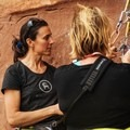 Me instructing.- Moab: Women's Climbing Clinics
