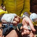 Taping up.- Moab: Women's Climbing Clinics