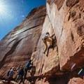 Sending.- Moab: Women's Climbing Clinics