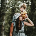 My daughter wanted out of the pack, and she was able to unbuckle the strap. She started tackling me from behind while Jackie Harvey Milewski (@refreshedjoy) took our picture.- Woman In The Wild: Ashley Scheider