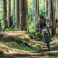 Kaysee racing BC Bike Race Stage 3 in Powell River, where she was fighting to regain time lost after a mechanical day one of the race. Photo by Todd Weselake.- Woman In The Wild: Kaysee Armstrong