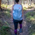 The pack fits comfortably while hiking.- Gear Review: The North Face Aleia 32 daypack