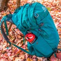 Side view of the stretch mesh pocket.- Gear Review: Gregory Sula 28 Daypack