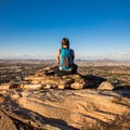 Sitting on the top of South Mountain with my Highpoint 30 Daypack.- Gear Review: Wildhorn Outfitters Highpoint 30 Compact Daypack