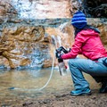 Filtering water at the base of Golden Falls.- Gear Review: MSR Guardian Water Purifier