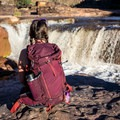 Admiring Apache Falls with the Mountainsmith Mayhem 35 WSD daypack.- Gear Review: 5 Best Women's Daypacks of 2018