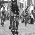 """Climbing the cobblestones at Ironman Frankfurt 2005. That part of the race was called 'the hell,' but I loved it and 'threw my heart over the hill and my body followed.'""- Woman In The Wild: Lisa Bentley"
