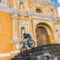 City shredding on the cobblestone streets of Antigua, Guatemala.- Woman In The Wild: Brittany Greer