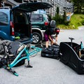 Packing up the bikes in Aosta, Italy.- Woman In The Wild: Brittany Greer