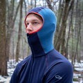 The balaclava-style hood looks a bit funny, but it's super comfortable and cozy.- Gear Review: Icebreaker BodyfitZONE 260 Zone Long Sleeve Shirt