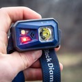 The lamp has a red LED mode.- Gear Review: Black Diamond ReVolt Headlamp