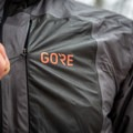 The zippered chest pocket is just large enough for small items, and also serves as a stuff sack.- Gear Review: GORE R7 GORE-TEX Shakedry Hooded Jacket