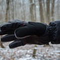 The thumb has a soft nose wipe, a pleasant feature in cold weather.- Gear Review: Rab Storm Gloves