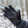 The leather palm helps with grip but the nylon fingers leave a bit to be desired.- Gear Review: Rab Storm Gloves