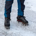 The gusseted pant legs have zippers to help fit over boots.- Gear Review: Rab Spire Pants