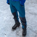 The pants have articulated and reinforced knees to stand up to wear and tear.- Gear Review: Rab Spire Pants