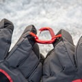 Each glove has a hanging loop on the finger.- Gear Review: Rab Storm Gloves