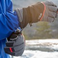 The gauntlets have one-hand cinches (both to tighten and loosen).- Gear Review: Rab Storm Gloves