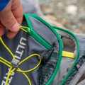 There are two large zippered pockets on the back.- Gear Review: Ultimate Direction Jurek FKT Running Vest