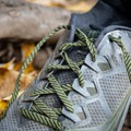 The Peregrines have flatter laces that help them stay tied.- Gear Review: Saucony Peregrine 8 Trail Running Shoe