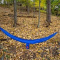 The finished setup using the Grand Trunk Ultralight hammock with the Muletape suspension straps.- Gear review: Antigravitygear MULETAPE Suspension Straps