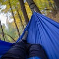 Swinging in the hammock.- Gear review: Grand Trunk Ultralight Hammock