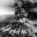 Mount St Helens erupts in Skamania County. Photo is courtesy of the United States Geological Survey.- Then and Now: Mount St. Helens