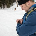 Setting the Casio to hiking mode to track distance, elevation, and to record a track.- Backcountry Skiing Phillips Canyon with the Casio Pro Trek
