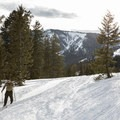 Skiing up Phillips Canyon.- Backcountry Skiing Phillips Canyon with the Casio Pro Trek