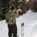 The Casio Pro Trek's touch screen makes it easy to record waypoints and navigate through the watch's features.- Backcountry Skiing Phillips Canyon with the Casio Pro Trek