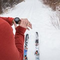 I set the Casio Pro Trek to hiking mode to record distance and a track.- Cross-country Skiing the Mahogany Ridge Trail with the Casio Pro Trek