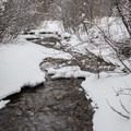 Mahogany Creek in the snow.- Cross-country Skiing the Mahogany Ridge Trail with the Casio Pro Trek