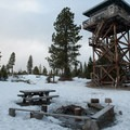 Fivemile Butte Lookout Tower. - Winter Adventures on Mount Hood