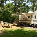 Typical campsite.- Viento State Park Campground