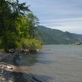 A pebble beach on the Columbia River.- Viento State Park Campground