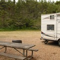 Typical campsite.- South Beach State Park Campground