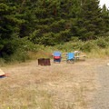 Typical tent campsite.- South Beach State Park Campground