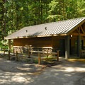 Restroom facilities.- Oxbow Regional Park Campground