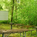 Campground amphitheater.- Ainsworth State Park Campground