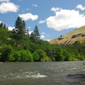 Looking across the Klickitat Wild and Scenic River.- Klickitat River Campground