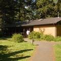 Restroom and shower facilities.- Beverly Beach State Park Campground