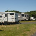 Nehalem Bay State Park Campground in the peak of summer.- Nehalem Bay State Park Campground