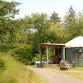 A typical yurt.- Fort Stevens State Park Campground