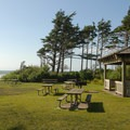 Cape Lookout State Park's day use area.- Cape Lookout State Park Campground