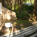 Park's amphitheater.- Cape Lookout State Park Campground