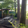 """Typical yurt in the """"C"""" loop.- Cape Lookout State Park Campground"""