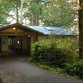 Restroom facilities.- Cape Lookout State Park Campground